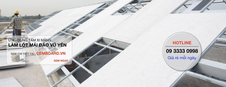 Tấm cemboard giá rẻ có làm được lót mái nhà hay không ?
